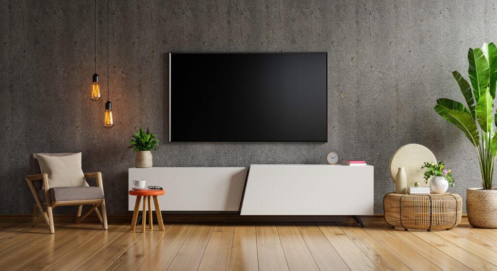 Televisie aan de wand